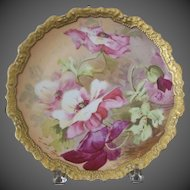 Limoges Floral Decorated Charger
