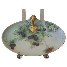 Limoges Handpainted handled tray