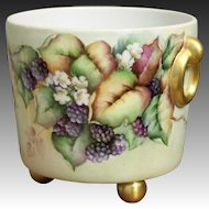 Porcelain Waste Pot with Blackberries