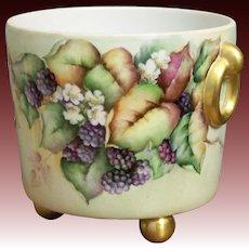 Porcelain Waste Pot with Blackberries