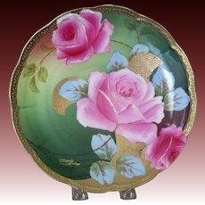 Handpainted Roses Austria, Artist Signed