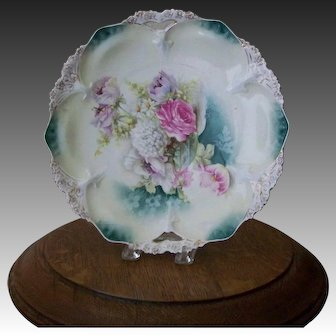 Floral Decorated Plate RS Prussia style