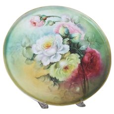 Vintage Handpainted Limoges Tray decorated with Roses