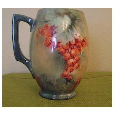 Vintage Handpainted Tankard Mug with Currants