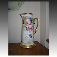 Vintage Bavaria Handpainted Tankard with Blackberries