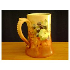 Antique Limoge Handpainted Mug decorated with Blackberries