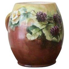 Limoges Handpainted Mug with Blackberries