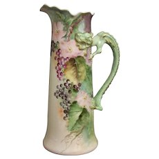 Handpainted Limoges Tankard with Berries