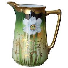 Handpainted Narcissus Milk Jug by Pickard artist Gibson