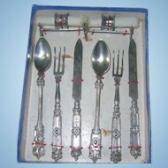 Antique Doll Silverware Set Still in Presentation Box