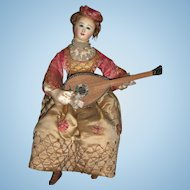 "RARE French Musical Automaton ""Lady with Mandolin"" by Theroude Layaway"