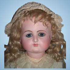 "Stunning Bargain 23"" Petit Dumoutier Antique French Doll - Head Restoration- 8 BJB - Layaway"