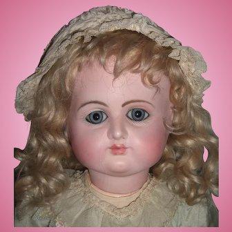 "Stunning Bargain 23"" Petit Dumoutier Antique French Doll - Head Restoration- 8 BJB - Layaway"