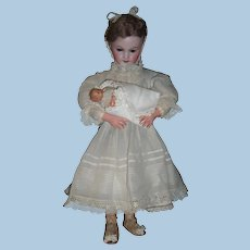 """18"""" Charming Automaton by Roullet de Camps - Antique French Doll rocks baby - unusual mechanism - layaway"""