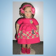 All original Lenci Felt Doll 13""