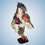 "RARE Layaway 18"" Violinist Antique Doll Automaton Vichy"
