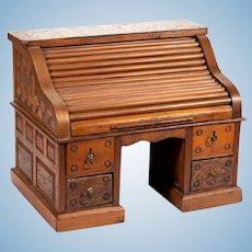 """14 x 17 1/2"""" Antique Doll's Tambour Rolltop Desk - Layaway!"""