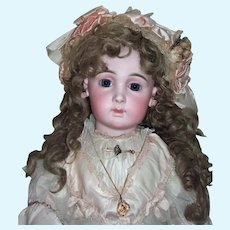 """32"""" Jumeau Triste - Stunning Example - Long Tail Mohair Wig - Layaway"""
