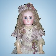 "28"" Steiner C Antique Doll in Couture Dress - Layaway!"