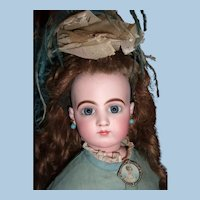 "Outstanding 26"" Jumeau French Fashion Antique Doll Spiral Eyes - Choice of Antique Gowns - Accessories - Layaway"