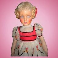 "HUGE 25"" Lenci Doll ""Henrietta"" 130 Series, Circa 1935 - Layaway"
