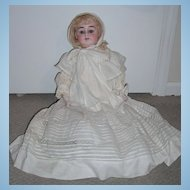 "22"" Alma Antique Baby Doll - Outstanding Original Ensemble - bisque hands"