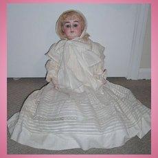 "22"" Alma Antique Baby Doll - Outstanding Original Ensemble - bisque hands"