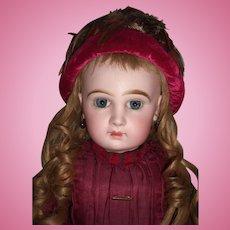 """20"""" Tete Jumeau Antique Doll Antique Dress RARE Hat- Layaway"""