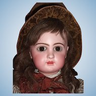 "BARGAIN RARE 24"" E11D Circa 1892 Antique Jumeau Doll by Emile Douillet - Orig. Shoes Layaway"