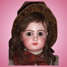 """BARGAIN RARE 24"""" E11D Circa 1892 Antique Jumeau Doll by Emile Douillet - Orig. Shoes Layaway"""