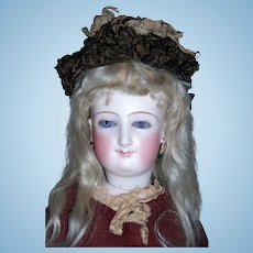 "Large 22"" Bru Smiler Antique French Fashion Doll- TWO Dresses - WOOD arms - layaway"
