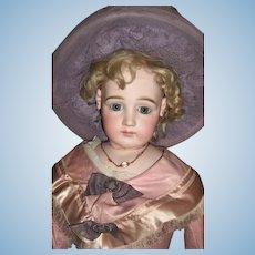 """28"""" Stunning Early Jumeau Portrait French Fashion Doll Circa 1878 w/Spiral Eyes - Layaway"""