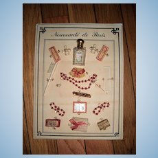 Antique Doll Accessories On Cardboard - Layaway