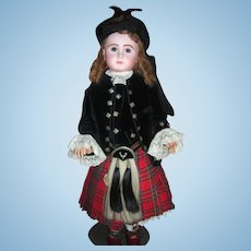 RARE Size 20 Steiner Dressed in Elaborate Antique Scottish Costume - Long Layaway!