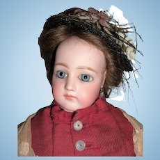"19"" Portrait Jumeau French Fashion Antique Doll w/Original Dress & Wig - Layaway"