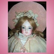 "14"" Jumeau French Fashion Antique Doll - Lovely Organdy Dress! Layaway!"