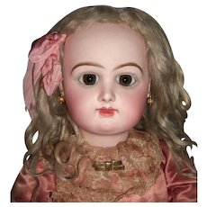 "Stunning 29"" Rabery & Delphieu Antique Doll - Very Pale & Early  Straight Wrists - Layaway"