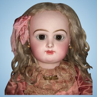 """Stunning 29"""" Rabery & Delphieu Antique Doll - Very Pale & Early  Straight Wrists - Layaway"""