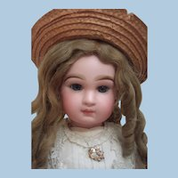 "25"" Transitional DEPOSE Tete Jumeau Antique Doll -Antique Dress & Hat - Layaway!"