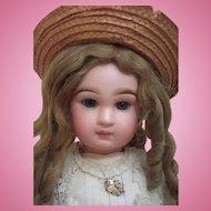 "25"" Transitional DEPOSE Tete Jumeau Antique Doll - Fabulous Pale Pink Antique Silk Dress - Layaway!"