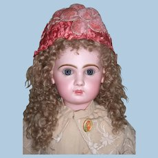 """Gorgeous 29"""" Tete Jumeau Antique Doll - Wonderful Embroidered Coat - Boots - Layaway!"""