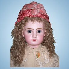 "Gorgeous 29"" Tete Jumeau Antique Doll - Wonderful Embroidered Coat - Boots - Layaway!"