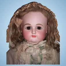 """RARE 23"""" Very Round Face Antique Doll by Petit & Dumoutier w/Pewter hands  - Layaway"""