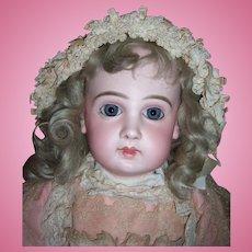 "Stunning 23"" EJ11 Antique Doll W/Original Pink Jumeau Shoes- Layaway"