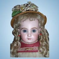 "18"" EJ Antique Doll Sz 8 With Original Wig - Layaway"