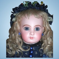 "Cabinet Size 18"" EJ by Jumeau - Stunning Antique Doll - Working Crier Strings - Rare shop label - Layaway"