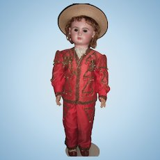 "RARE & Amazing 35"" Paris Bebe Antique Doll in Marquis Costume - Layaway"