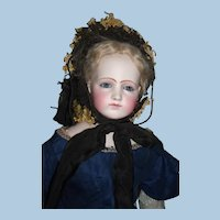 "Stunning 22"" Portrait French Fashion doll Early Jumeau - Layaway"