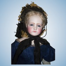 "Stunning 22"" Portrait French Fashion doll Early Jumeau - Layaway"