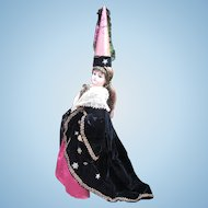 """19"""" Jumeau Antique French Fashion Doll Dressed as Medievel Queen - Layaway"""